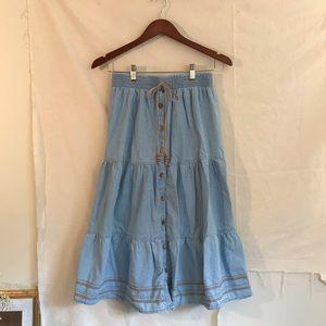 Demon maxi skirt